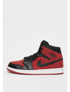 Air Jordan 1 Mid Gym Red/Black/White by Jordan