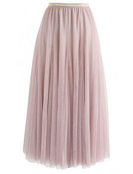 My Secret Weapon Tulle Maxi Skirt In Pink by Chicwish