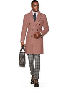 Pink Double Breasted Coat by Suitsupply