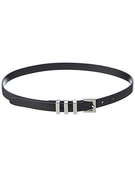 Saint Laurent Women's Classic 3 Passants Leather Belt by Saint Laurent