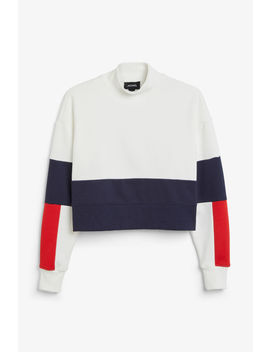 Colour Block Sweater by Monki