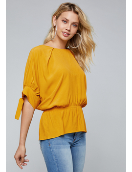Sydney Dolman Sleeve Top by Bebe