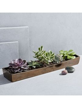 Elongated Ceramic Centerpiece Tray by West Elm