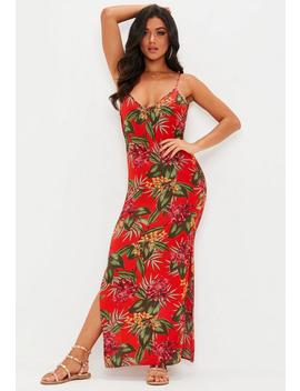 Red Tropical Maxi Dress by Missguided