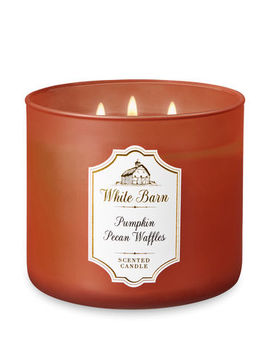 White Barn   Pumpkin Pecan Waffles   3 Wick Candle    by White Barn