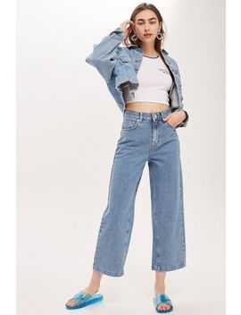 Moto Bleach Diamante Cropped Jeans by Topshop