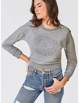 Short Embossed Logo Sweater by Guess