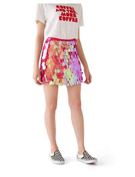Wyne Skirt   Fuchsia Shine by Ban.Do