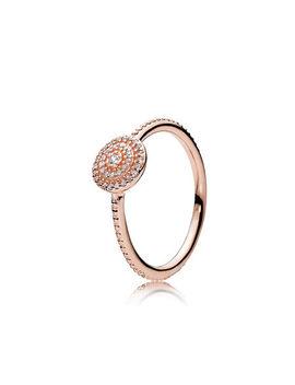 Radiant Elegance Ring, Pandora Rose™ & Clear Cz by Pandora