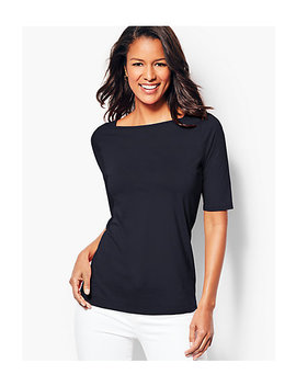 Envelope Neck Tee   Solid by Talbots
