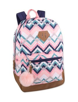 Pink &Amp; Tan Zigzag Backpack by Trailmaker