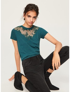 Lace Neckline Top by Reserved