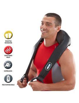 Cordless Shiatsu Neck &Amp; Back Massager With Heat by Brookstone