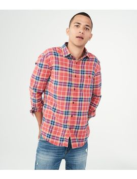 Long Sleeve Plaid Twill Woven Shirt by Aeropostale