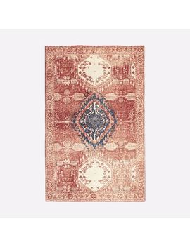 Distressed Medallion Rug   Cayenne/Midnight by West Elm