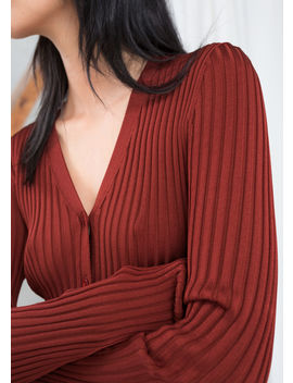 Fitted Ribbed Cardigan by & Other Stories