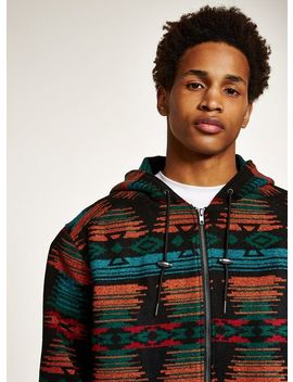 Multicoloured Hooded Jacket by Topman