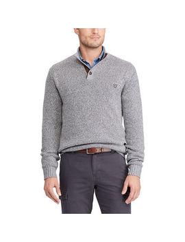 Chaps Men's Pre Twist Button Mock Long Sleeve Sweater by Chaps Men's Pre Twist Button Mock Long Sleeve Sweater
