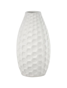 White Honeycomb Vase 9 In by At Home