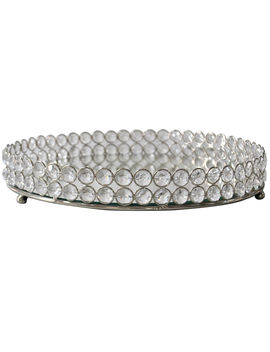 Round Crystal Tray 12 by At Home