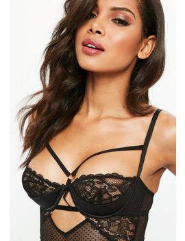 Black Half Cup Lace Body by Missguided