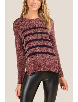 Autumn Striped Sweater by Francesca's