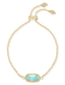 Elaina Adjustable Chain Bracelet In Aqua Kyocera Opal by Kendra Scott