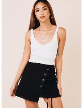 Aspendale Mini Skirt Black by Princess Polly