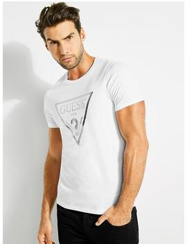 Linear Ombre Logo Tee by Guess