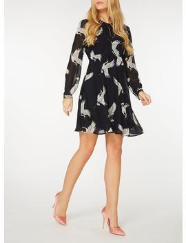 **Only Navy Bird Print Tea Dress by Dorothy Perkins