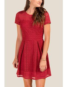 Lilly Lace A Line Dress by Francesca's