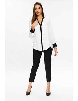 Ivory Button Shirt by Wallis