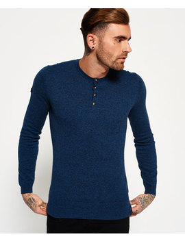 Orange Label Knit Grandad Jumper by Superdry