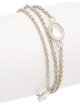 Rivka Friedman Rhodium Clad Crystal Bracelet by Rivka Friedman