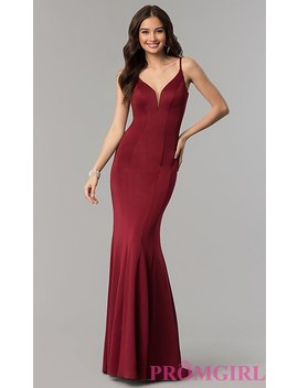 Faviana Mermaid Prom Dress With Cut Out Open Back by Promgirl
