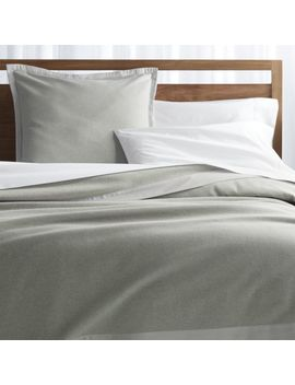 Trent Satin Trim Blanket And Pillow Shams by Crate&Barrel