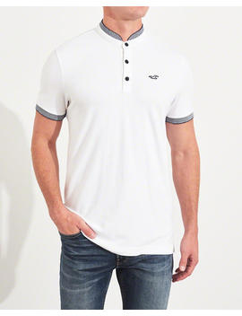 Banded Collar Stretch Polo by Hollister