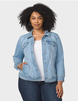 Plus Size Basic Denim Jacket by Dressbarn