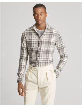 Plaid Cashmere Shirt by Ralph Lauren
