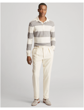 Striped Cashmere Rugby Sweater by Ralph Lauren