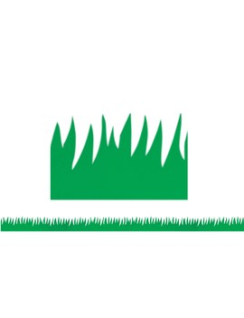 Hygloss Green Grass Border Trim, 5 Pack Bundle by Hygloss Products
