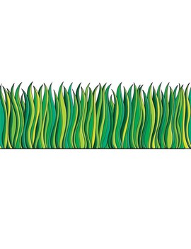 Scholastic Tall Green Grass Jumbo Border, 12' Per Pack, 6 Packs by Scholastic Teaching Resources Inc.