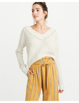 V Neck Pointelle Sweater by Abercrombie & Fitch