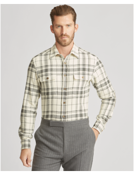Plaid Wool Blend Shirt by Ralph Lauren