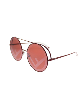 Run Away Ff 0285 C9a Red Round Sunglasses by Fendi