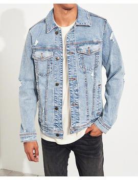 Ripped Stretch Denim Jacket by Hollister