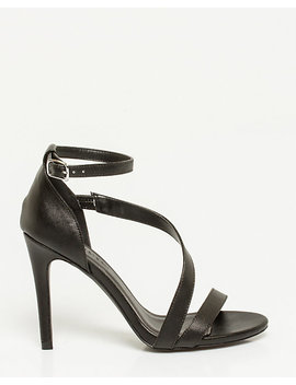 Leather Like Asymmetrical Sandal by Le Chateau