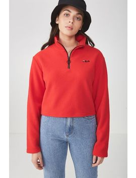 Fila Lcn Half Zip Funnel Neck Jumper by Cotton On
