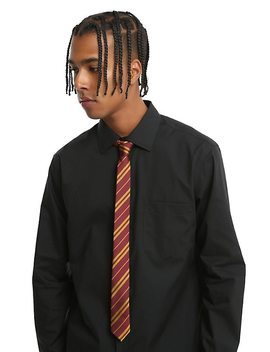 Harry Potter Gryffindor Striped Skinny Tie by Hot Topic