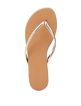 Textured Flip Flop Thong Sandals by Charlotte Russe
